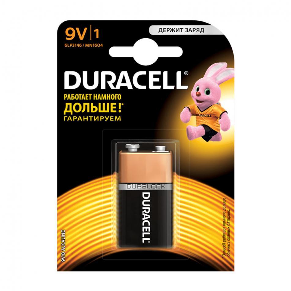 Алкалиновая батарейка Крона DURACELL 9V BASIC