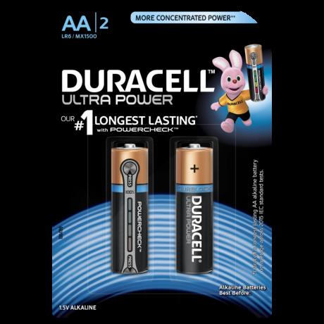 Пальчиковая алкалиновая батарейка DURACELL AA 1.5V ULTRA