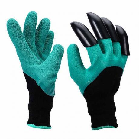 Садовые перчатки с когтями Garden Genie Glove