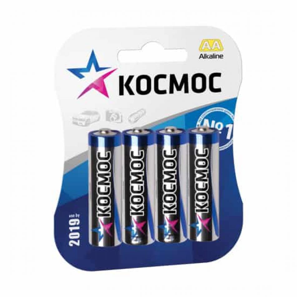 Пальчиковая алкалиновая батарейка КОСМОС AA 1.5V CLASSIC