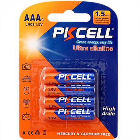 Пальчиковая алкалиновая батарейка PKCELL AAA 3,9 OHM 1.5V ULTRA