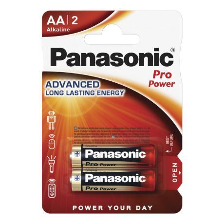 Пальчиковая алкалиновая батарейка PANASONIC AA 1.5V PRO